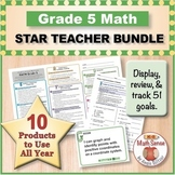 Grade 5 Math STAR TEACHER BUNDLE (Communication, Review, Tracking)