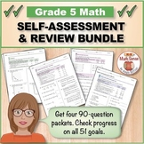 Grade 5 Math Self-Assessment and Review BUNDLE, Forms A-D