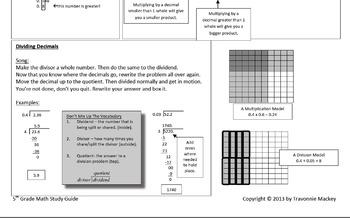 Grade 5 Math Study Guide