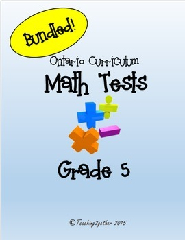 Grade 5 Math Test Bundle