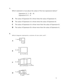 NYS Common Core Math Test Prep Grade 5