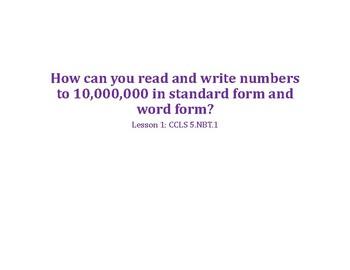 Grade 5 Math Unit 1 Place Value of Whole Numbers & Decimals PowerPoints Bundle
