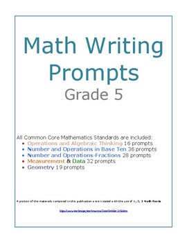 Grade 5 Math Writing Prompts