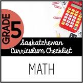 Grade 5 Mathematics - Saskatchewan Curriculum Checklists