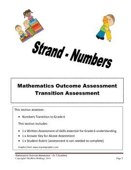 Grade 5 - Mathematics Transition Assessment