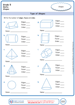 Grade 5 Maths Workbook from www.Grade1to6.com