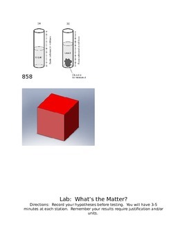 Grade 5 Matter Lab