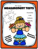 Grade 5 Measurement Tests - Capacity, Volume, Area and Per