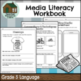 Grade 5 Media Literacy Workbook | NO PREP (Ontario Language Curriculum)