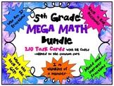 Grade 5 Mega Math Bundle with QR Codes