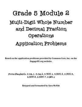 Grade 5 Module 2 Application Problems