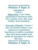 Grade 5 Module 3 Eureka/Zearn Objectives & Success Criteria