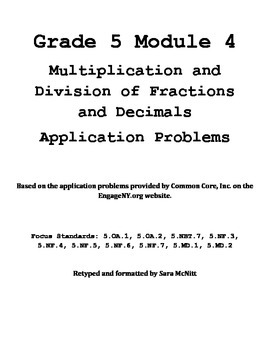 Grade 5 Module 4 Application Problems