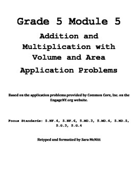 Grade 5 Module 5 Application Problems