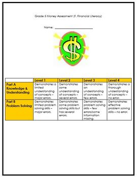 Grade 5 Money Assessment