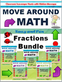 Grade 5 Move Around Math Scavenger Hunt: Fractions Bundle: