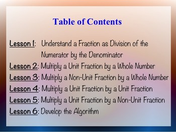 Grade 5 Multiplying Fractions Unit with Worksheets