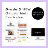 Grade 5 NEW Ontario Math Curriculum - Patterns and Equatio