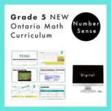 Grade 5 NEW Ontario Math Curriculum - Place Value Digital Slides