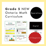 Grade 5 NEW Ontario Math - Operations Digital Slides