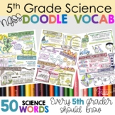 NGSS Doodle Notes Vocabulary Review (5th Grade)
