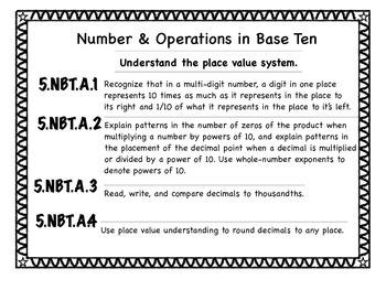 Grade 5 NYC Common Core Math Standards