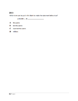 Grade 5 NYS CCLS  Released Assessment Questions 2013-2015