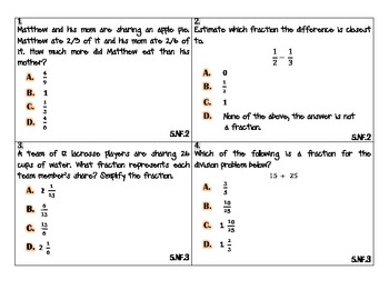 Grade 5 NYS Common Core Math Review Cards