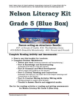 Grade 5 Nelson Literacy Kit (Blue Box): Forces acting on structures: #37 to  40