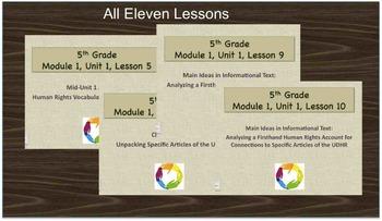 Grade 5 New York State ELA Module 1 Unit 1, Declaration of Human Rights