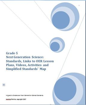 Grade 5 Next Generation Science Standards - Links to OER Lessons