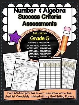 Grade 5 - Number and Algebra Success Criteria Assessment Tasks