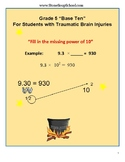 Grade 5 CCS -Numbers & Operations in Base 10 Students w/ Traumatic Brain Injury