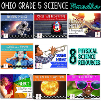 Grade 5 Ohio Physical Science BUNDLE: Light Energy, Sound
