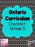 Grade 5 Ontario Curriculum Checklist