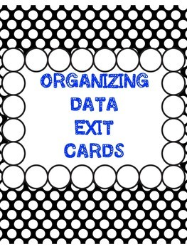 Grade 5 Ontario Data Management and Probability Exit Cards