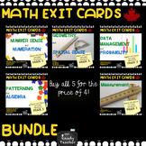 Grade 5 Ontario Math Exit Card Bundle
