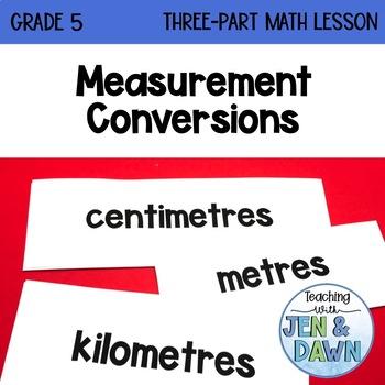 Grade 5 Ontario Math Three Part Lesson Measurement Conversion