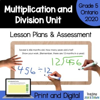 Grade 5 Ontario Math Three Part Lesson Multiplication Division Complete Unit