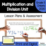 Multiplication and Division - COMPLETE UNIT (Grade 5 Ontar