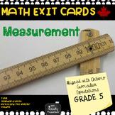Grade 5 Ontario Measurement Exit Cards