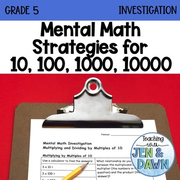 Grade 5 Ontario Multiplication and Division Mental Math In
