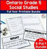 Ontario Grade 5 Social Studies Full Year Bundle