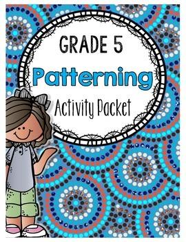 {Grade 5} Patterning Activity Packet