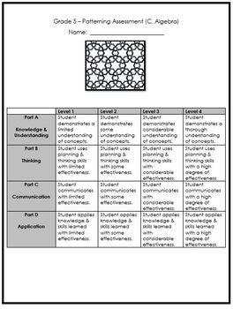 Grade 5 Patterning Assessment