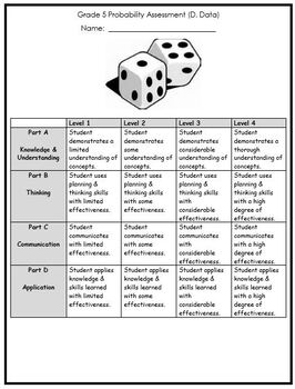 Grade 5 Probability Assessment