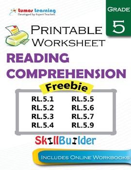 Grade 5 Reading Comprehension Freebie!