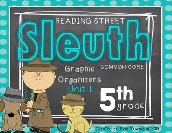 Grade 5 Reading Street SLEUTH Unit 1 Week 1 FREEBIE