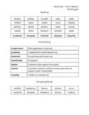 Grade 5 Reading Street - Unit 1 Spelling & Vocabulary Words