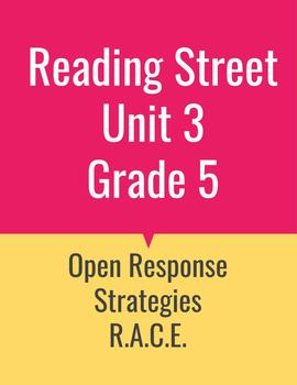Grade 5 Reading Street Unit 3 Open Response Strategies BUNDLE